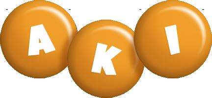 Aki candy-orange logo