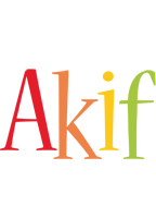 Akif birthday logo