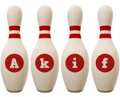 Akif bowling-pin logo