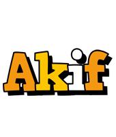 Akif cartoon logo