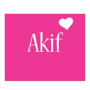 Akif love-heart logo