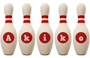 Akiko bowling-pin logo