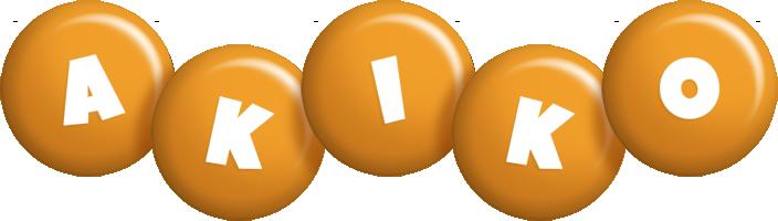 Akiko candy-orange logo