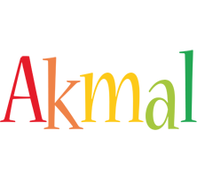 Akmal birthday logo
