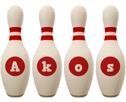 Akos bowling-pin logo