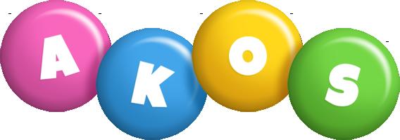 Akos candy logo
