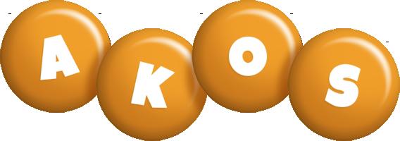 Akos candy-orange logo