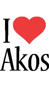 Akos i-love logo