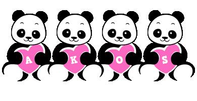 Akos love-panda logo