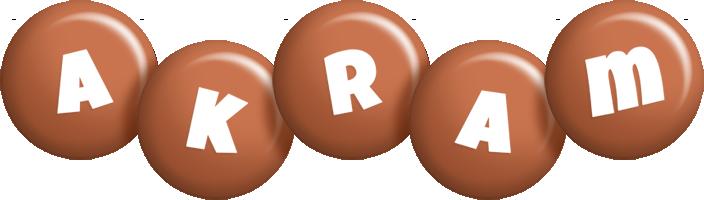 Akram candy-brown logo