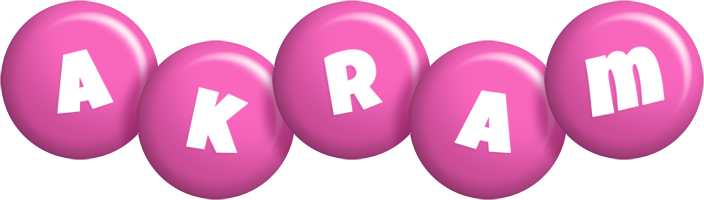 Akram candy-pink logo