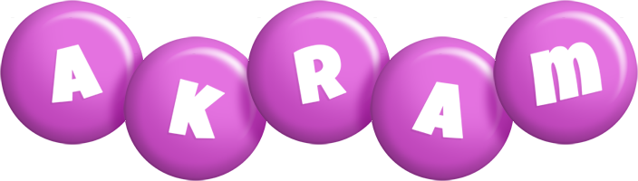 Akram candy-purple logo