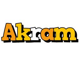 Akram cartoon logo