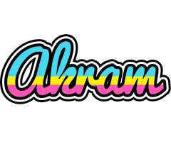 Akram circus logo