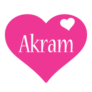 Akram love-heart logo