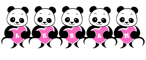Akram love-panda logo