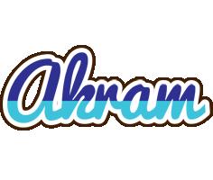 Akram raining logo
