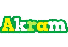 Akram soccer logo