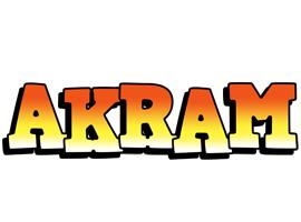 Akram sunset logo