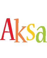 Aksa birthday logo