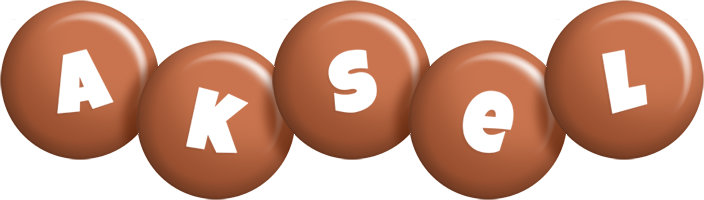Aksel candy-brown logo