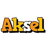 Aksel cartoon logo