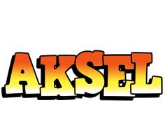 Aksel sunset logo