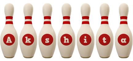 Akshita bowling-pin logo