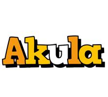 Akula cartoon logo