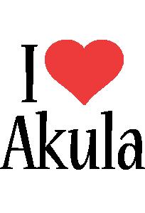 Akula i-love logo