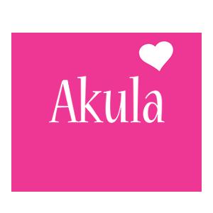 Akula love-heart logo