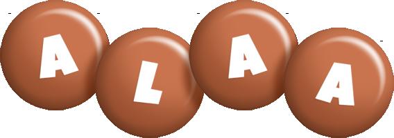 Alaa candy-brown logo