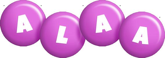 Alaa candy-purple logo