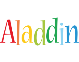 Aladdin birthday logo
