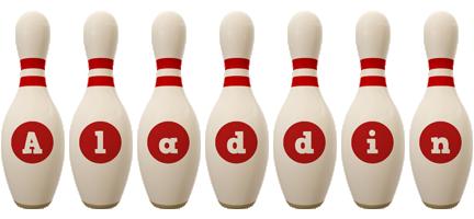 Aladdin bowling-pin logo