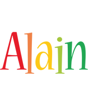 Alain birthday logo