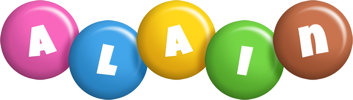 Alain candy logo