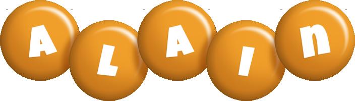 Alain candy-orange logo
