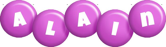 Alain candy-purple logo