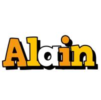 Alain cartoon logo