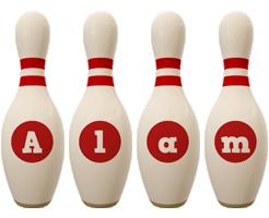 Alam bowling-pin logo