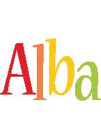 Alba birthday logo