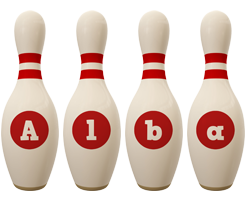 Alba bowling-pin logo