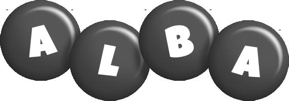 Alba candy-black logo