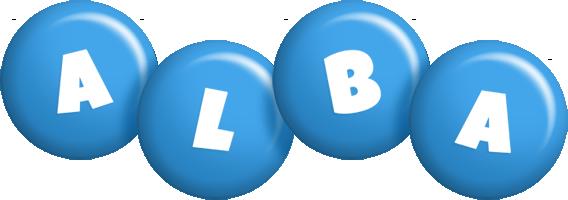 Alba candy-blue logo