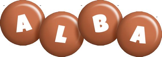 Alba candy-brown logo