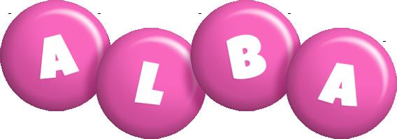 Alba candy-pink logo