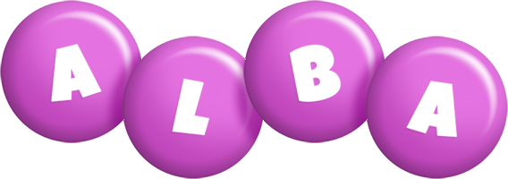 Alba candy-purple logo