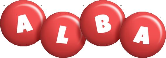 Alba candy-red logo
