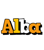 Alba cartoon logo